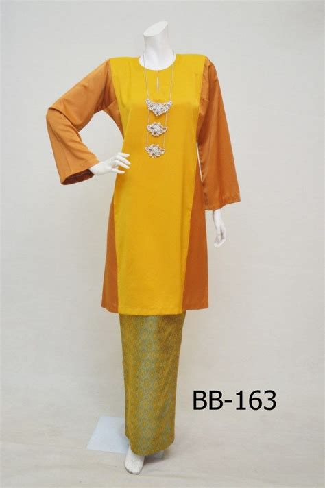 Baju Raya Warna Mustard 168 best baju kurung images on batik dress fashion and batik fashion