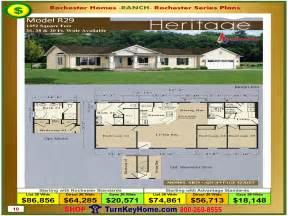 Open Floor Plans For Ranch Homes heritage rochester modular home model r29 ranch plan price