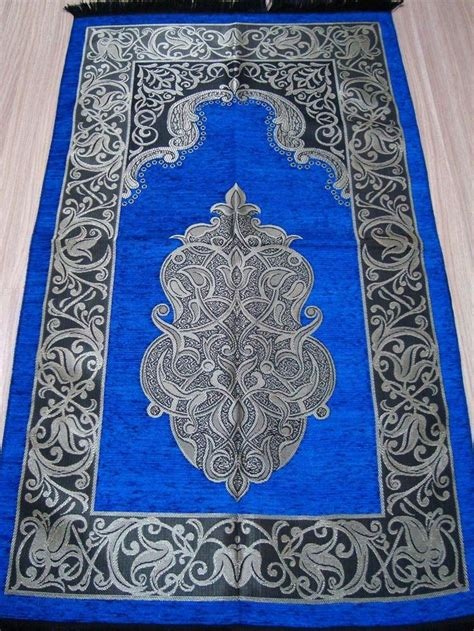 islamic prayer rug blue islamic prayer rug 99 pcs worry mat namaz salat musallah gift