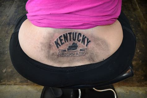 ass tattoo kick kentuckians kick with kentucky kicks tatoos