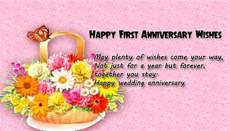 1st year wedding anniversary wishes for and in 1st wedding anniversary wishes for wishes4lover