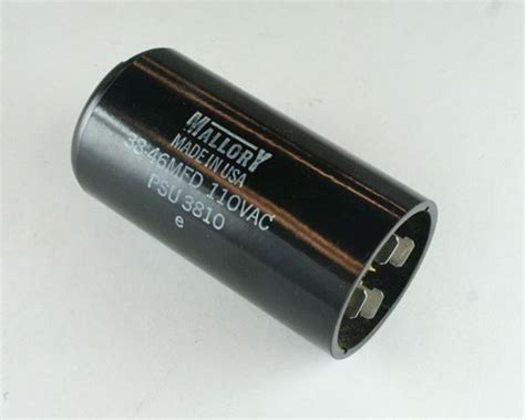 motor start capacitor mallory psu3810 mallory capacitor 38uf 110v application motor