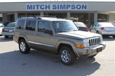 jeep commander with 3rd row seating sell used 2006 jeep commander limited 4x4 3rd row seating