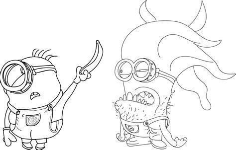 minions coloring pages banana minion banana coloring pages free sketch