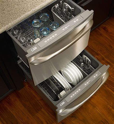 kenmore two drawer dishwasher what do you think of dishwasher drawers the kitchn