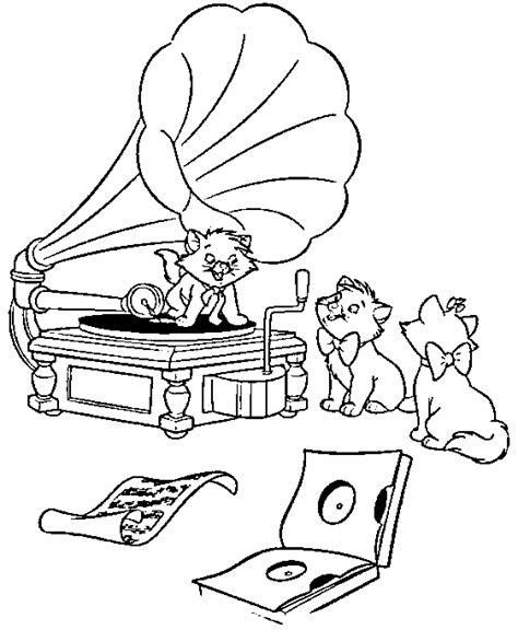 cats musical coloring pages aristocats coloring page print aristocats pictures to