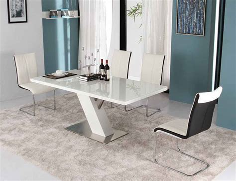 Modern White Lacquer Dining Table Modern Dining Modern White Dining Table