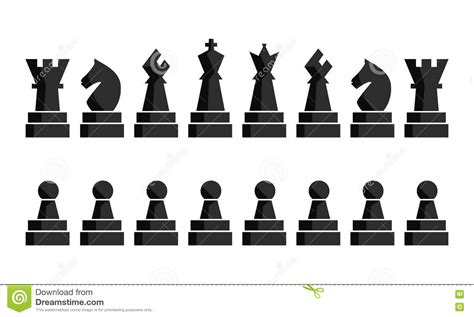 Magnetic Chess Pion Figure Board black chess icons set chess board figures vector