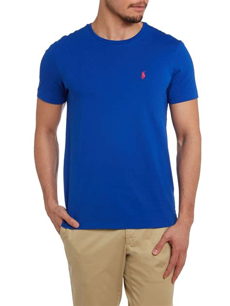 Pemborong Tshirt Polo Ralph Lauren | polo ralph lauren classic custom fit tshirt in blue for