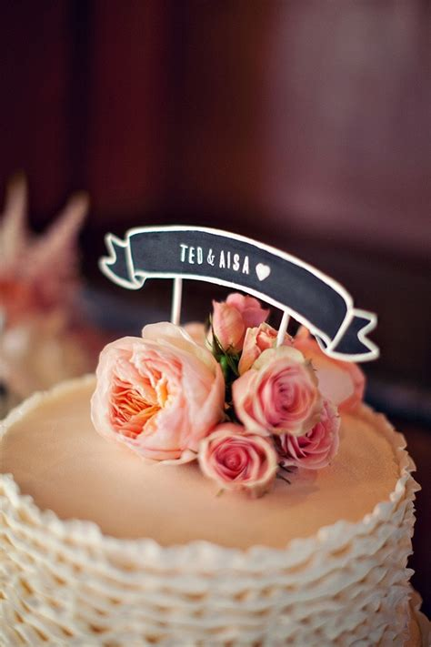Wedding Banner Cake Topper by 11 Awesome Cake Toppers From Etsy