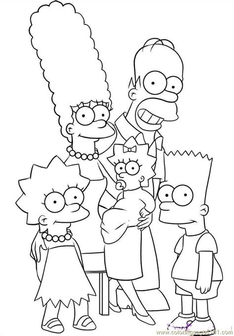Simpsons Coloring Pages To Print Coloring Home Simpsons Coloring Pages