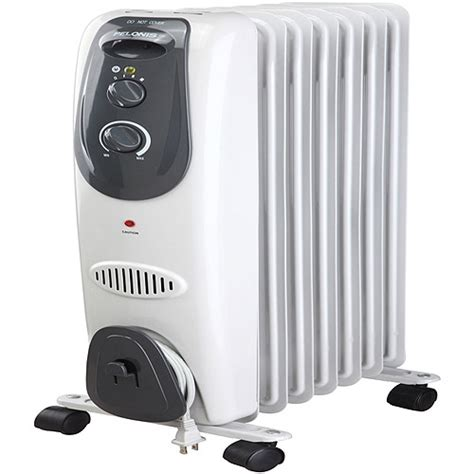 pelonis 7 fin electric radiator heater gray walmart