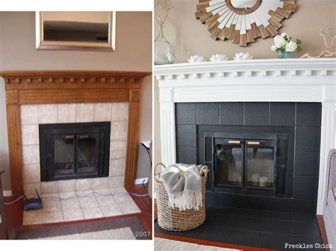 Painting Fireplace Tiles by Fireplace Mini Facelift Home Decor