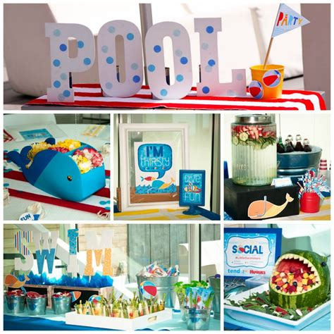 pool party decorations pool party theme ideas birthday party ideas rachael edwards