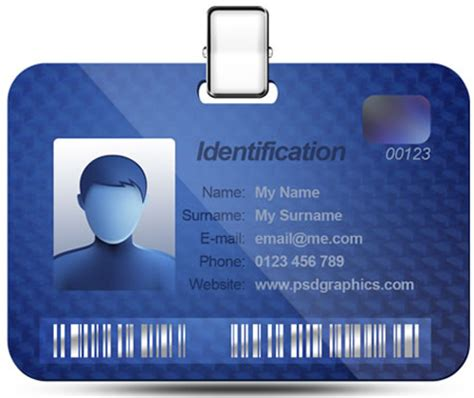Name Id Card Template Id Card Template Photoshop