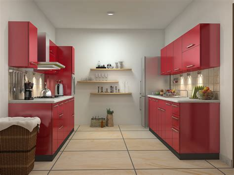 parallel kitchen ideas red kitchen design ideas parallel shaped modular kitchen