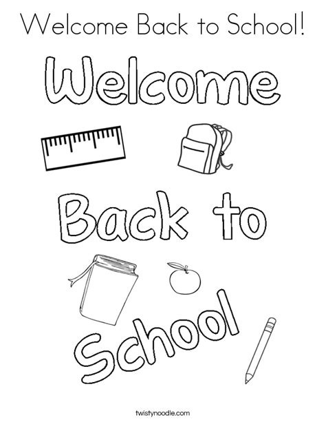 coloring page welcome to school welcome back to school coloring pages coloring home