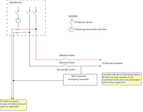 self contained exit light self contained emergency lighting wiring diagram 48