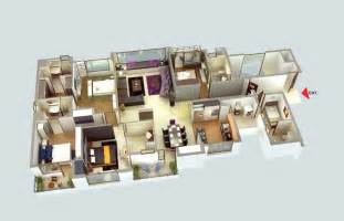 Four Bedroom Apartments by 50 Four 4 Bedroom Apartment House Plans Architecture