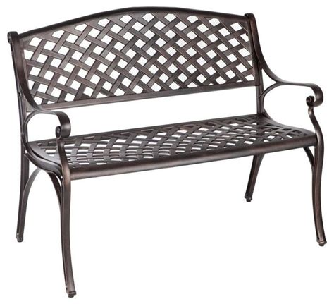 cast aluminum outdoor bench patio sense benches antique bronze cast aluminum patio