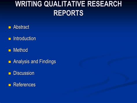 Methods Of Business Research Report Writing Ppt by Qualitative Proposals And Reports Ppt