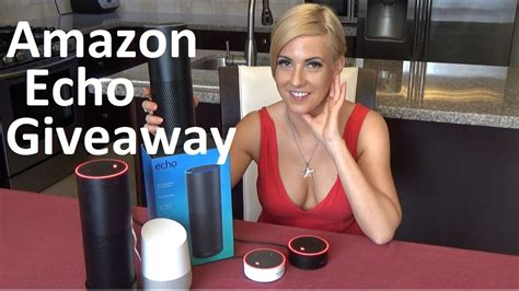 Amazon Alexa Giveaway - amazon echo giveaway with bonus alexa dot gift youtube