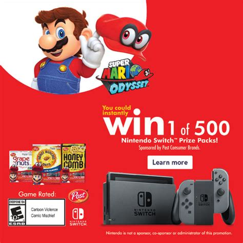Post Sweepstakes Nintendo Switch Enter Code - enter to win 1 of 500 nintendo switch prize packs become a coupon queen