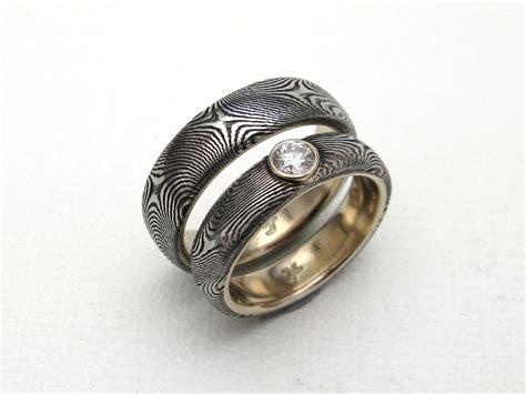damascus steel wedding ring j arthur damascus rings blades jewelry