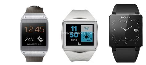 android smartwatch comparison samsung galaxy gear vs qualcomm toq vs sony smartwatch 2