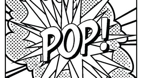 pop art coloring pages for kids modern on free coloring