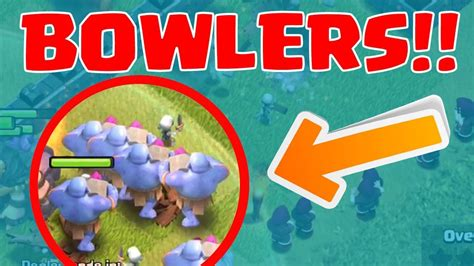 coc funniest attacks coc funny attack th5 vs 4 bowlers youtube