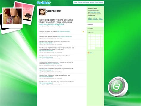 twitter layout green template for the new twitter layout psd png party