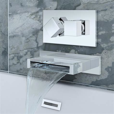 wall mounted bath filler and shower turin wall mounted waterfall bath filler with concealed