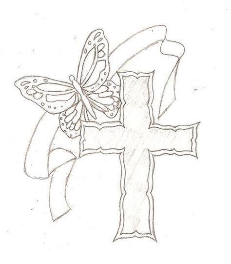 cross and butterfly tattoo butterfly on cross tattoos for cross butterfly
