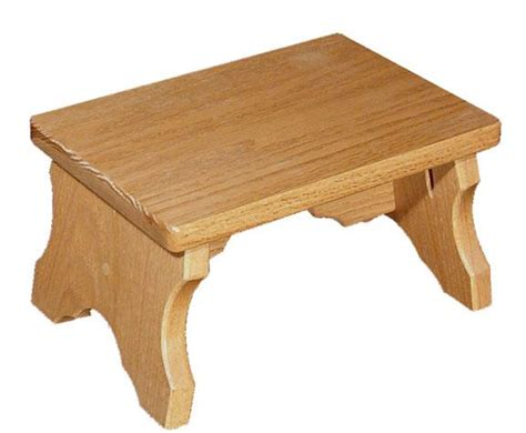 low wooden bench amish oak wood small bench
