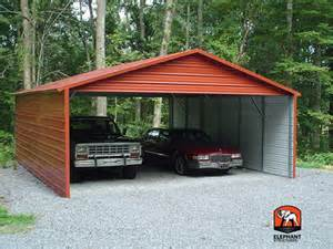 two car garage with carport