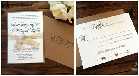 A Wedding Invitation by Rustic Wedding Invitations Ipunya
