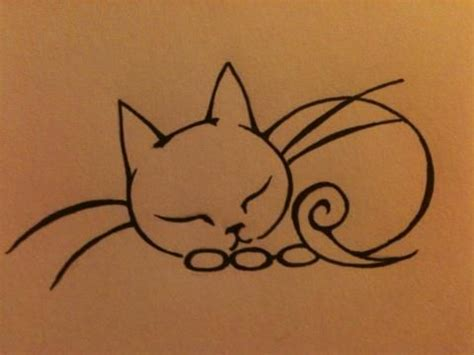 outline sleeping cat tattoo 378 best images about tattoos bats n cats on