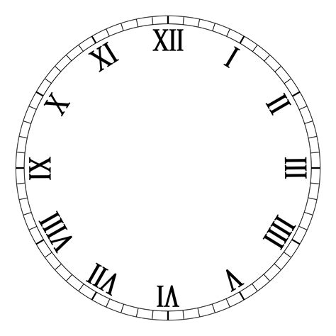 clockface template craft downloadable clock clipart best