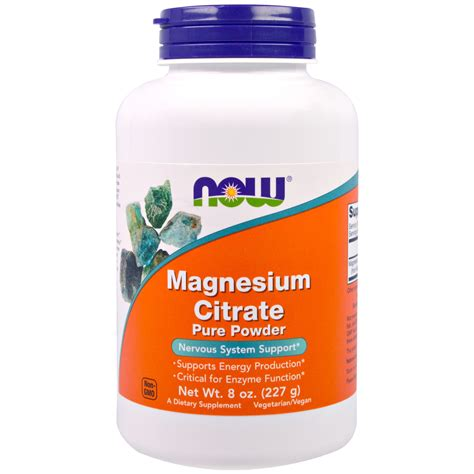 Magnesium Citrate Also Search For Now Foods Magnesium Citrate Powder 8 Oz 227 G Iherb