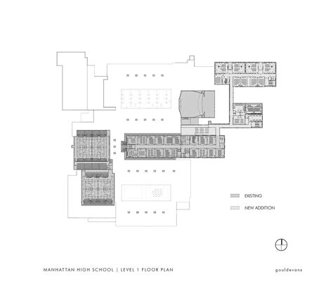 high school floor plan gallery of manhattan high school gould evans 22