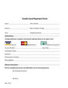Free Credit Card Payment Form Template Online Payment Forms Template Besttemplates123