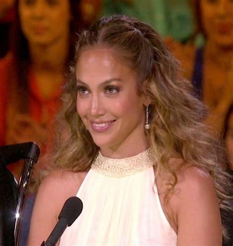 Center Parting Half Up Half Down Hairstyle   Jennifer