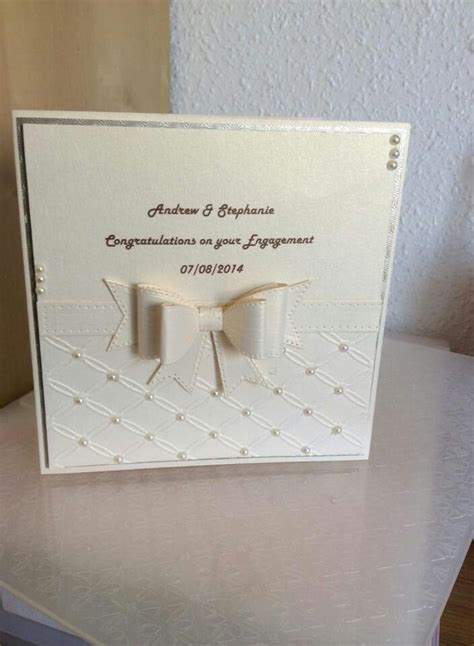 Wedding Anniversary Handmade Cards - 17 best images about engagement cards on
