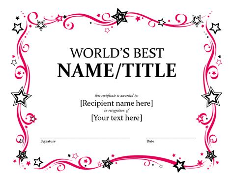 best certificate templates best performance award