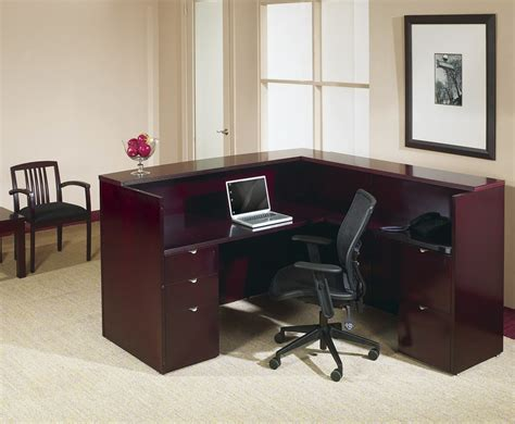 simple l shaped desk simple l shaped reception desk home design l shaped