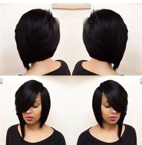 feathered chinese bang love a feathered coal black bob hair crazy pinterest