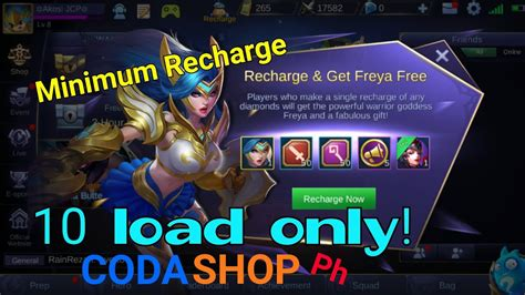 codashop freya how to recharge and get freya for 10 load mobile legends
