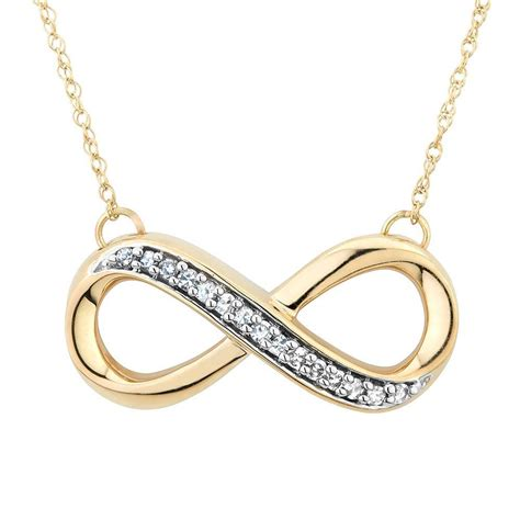 infinity items 58 infinty necklaces yellow gold infinity