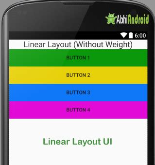 linear layout animation in android linear layout tutorial with exles in android